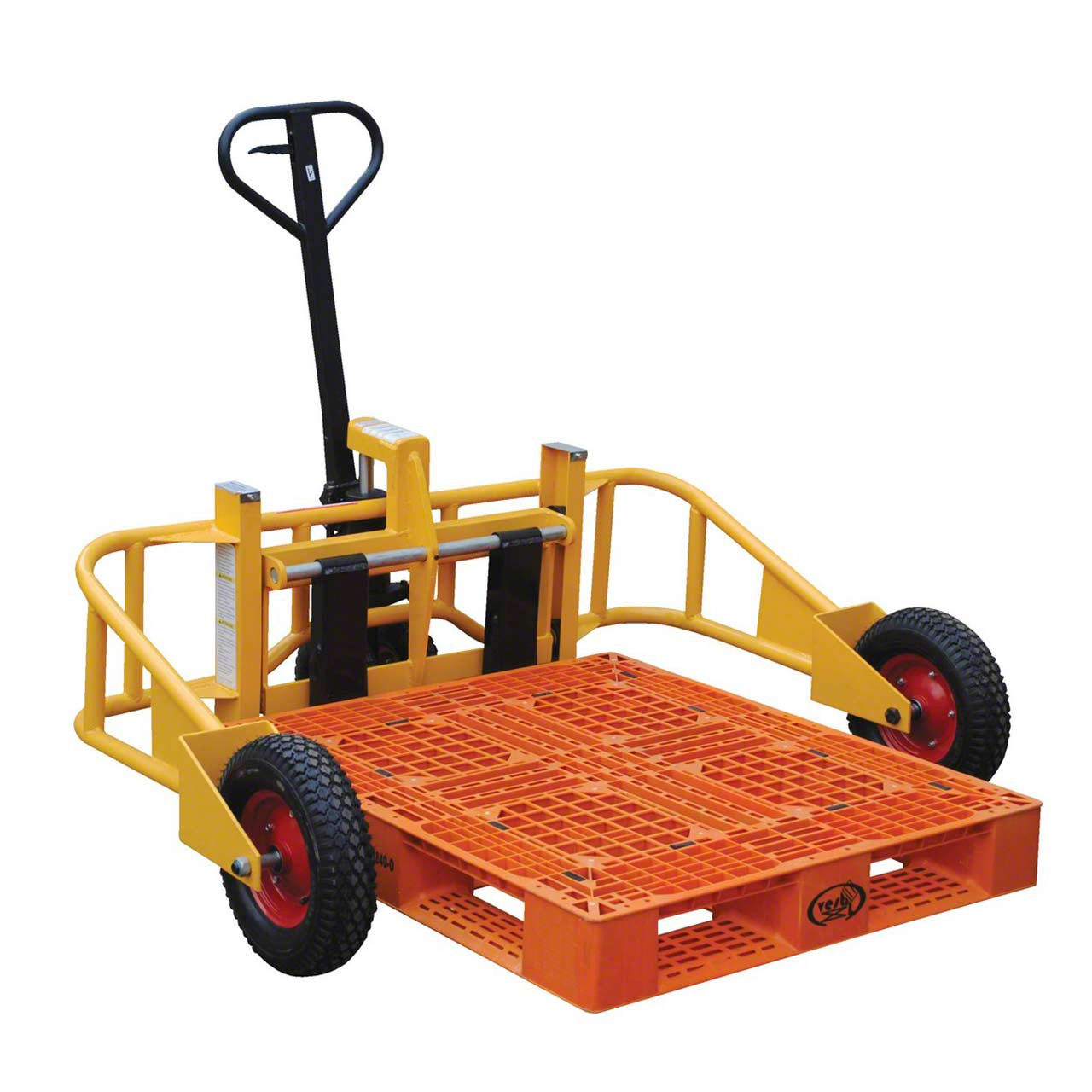 Manual All Terrain Pallet Jack With Pallet