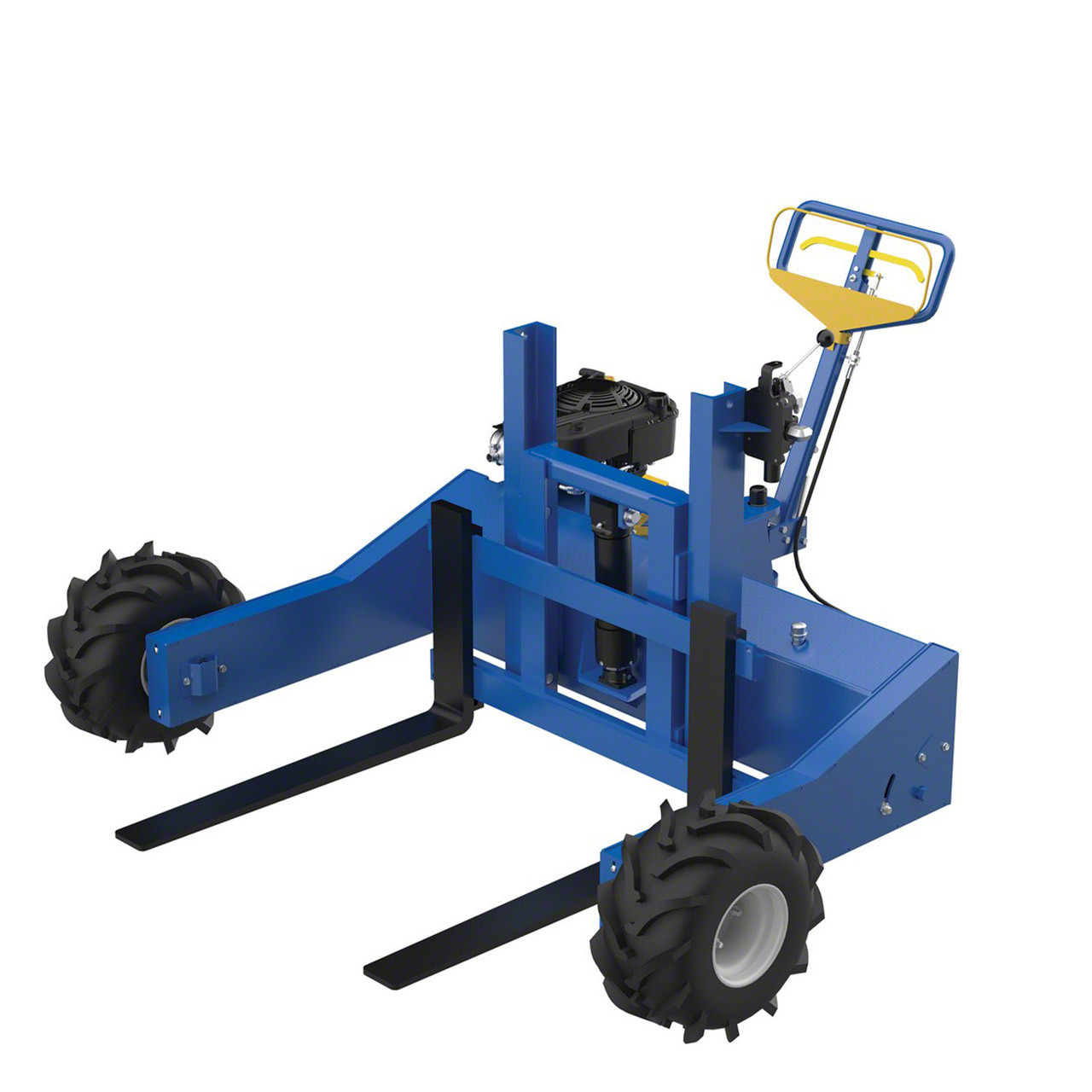 Side view of Vestil's all terrain pallet jack