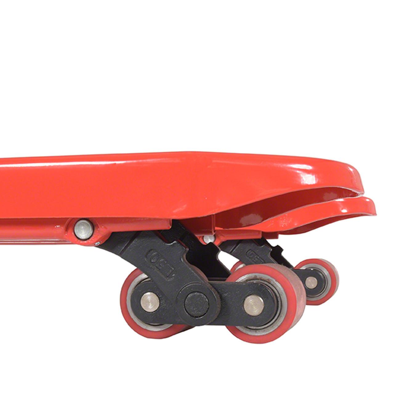 Wheels provide smooth transportation