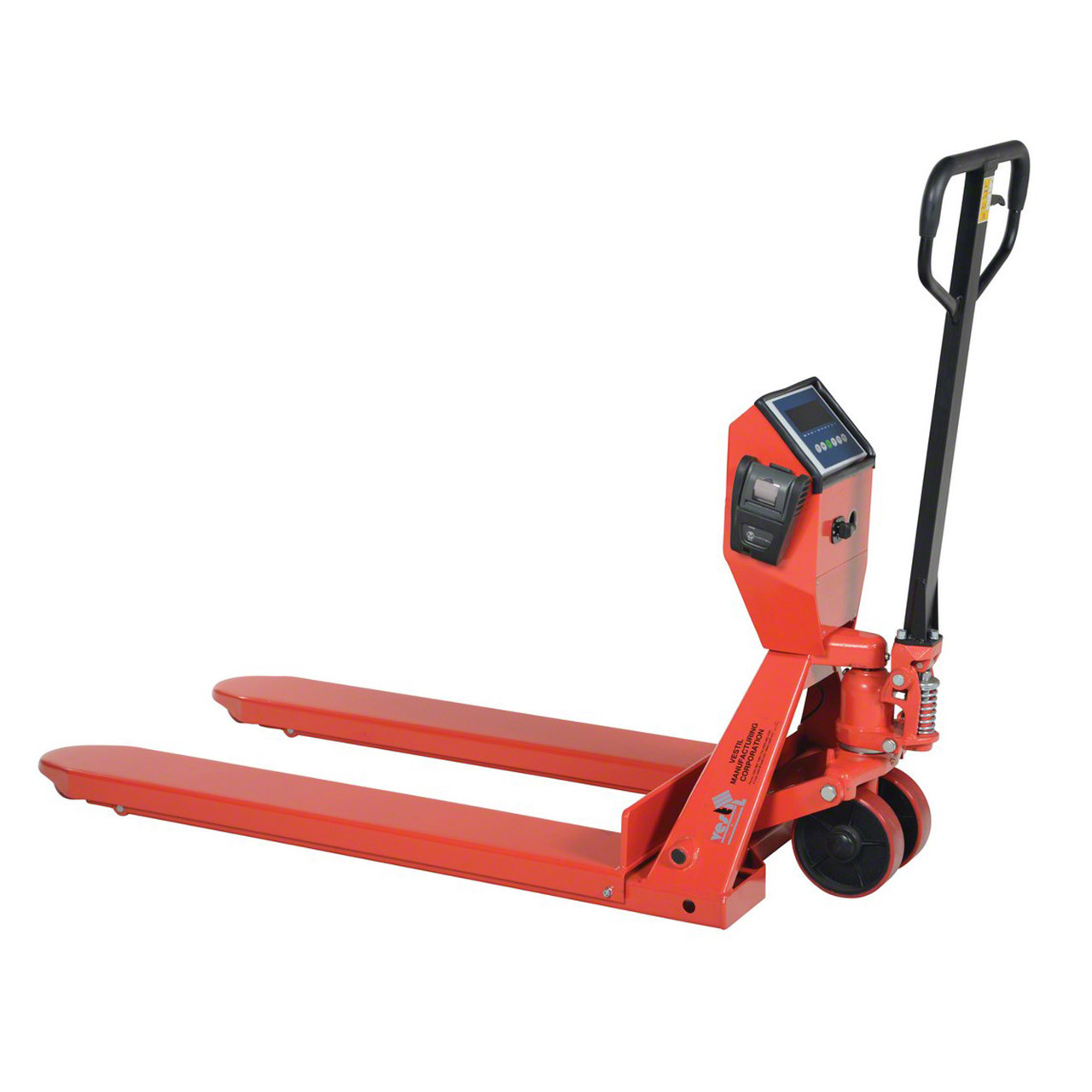 The PM-2748 pallet truck with scale and printer