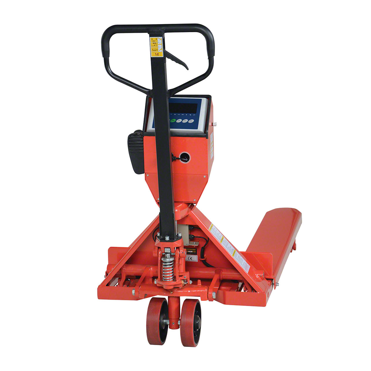 Vestil's pallet truck with scale and printer