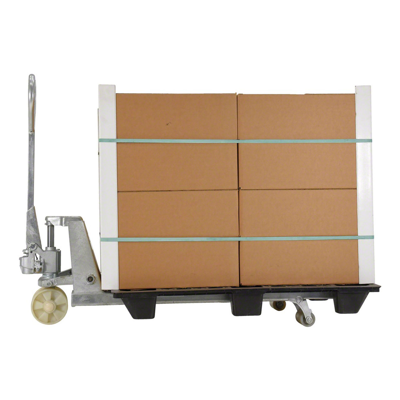 Stainless Steel Pallet Jack With boxes