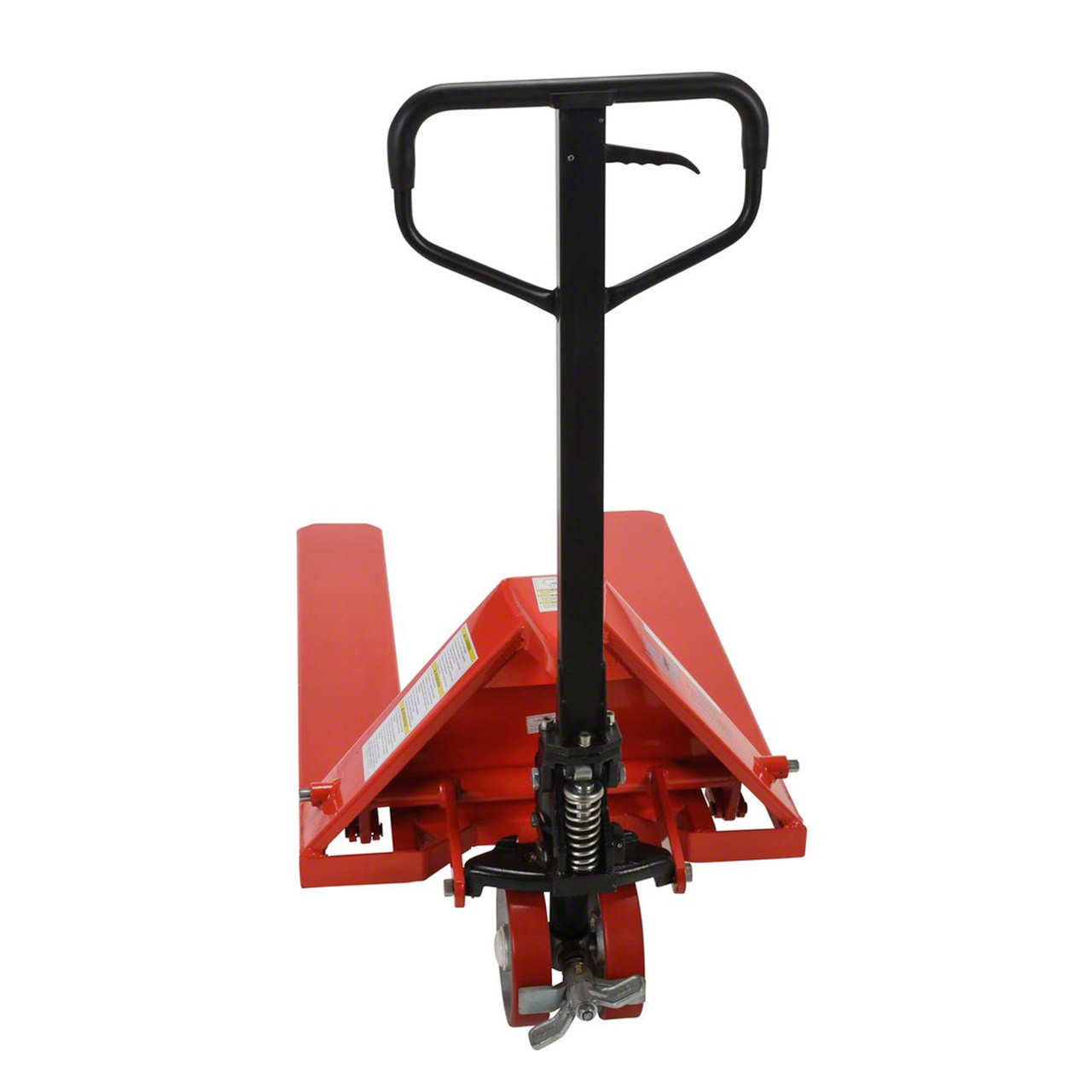 Back view of the wheel nose pallet jack