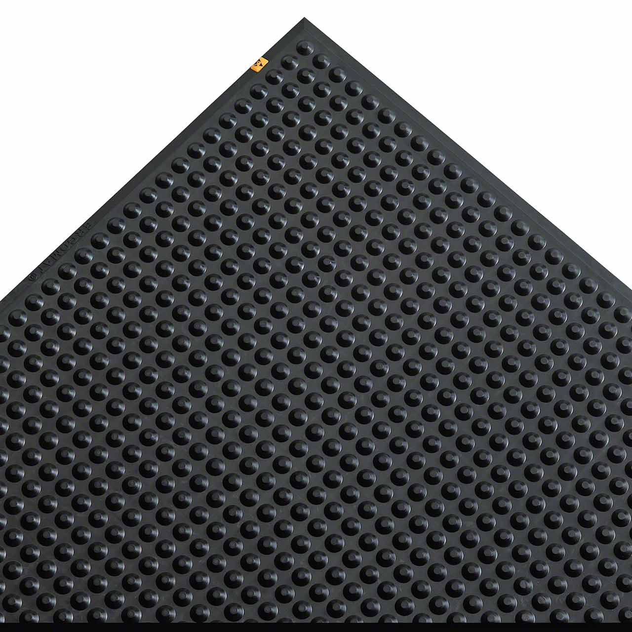 Ergomat Nitril ESD/Conductive anti-fatigue mat is beveled on each side
