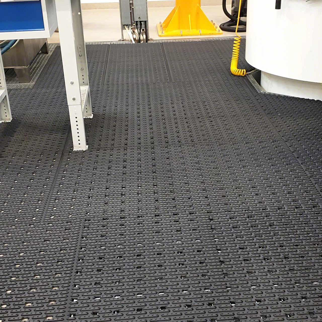 View of installed Ergomat Softline floor matting