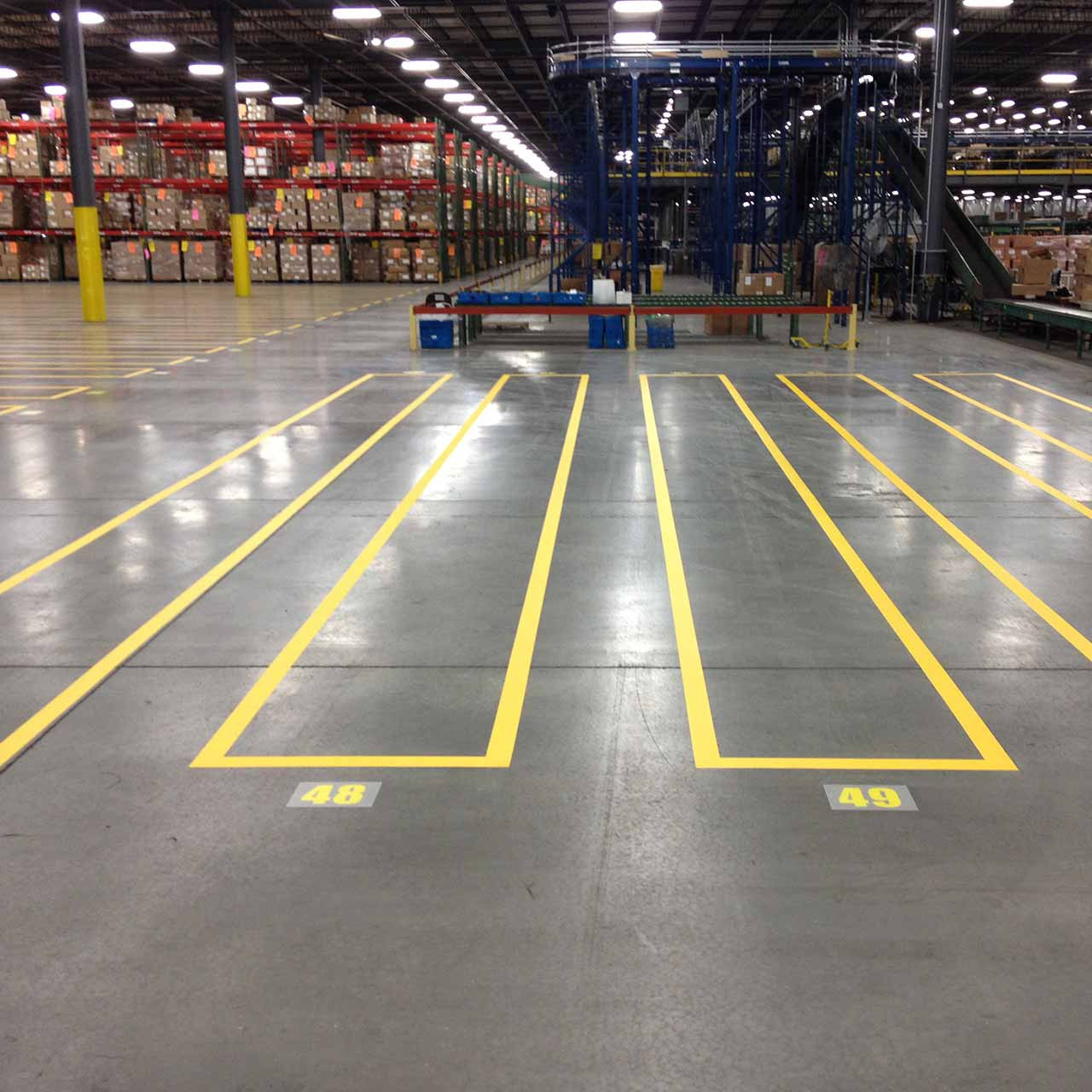 Zones created by striping