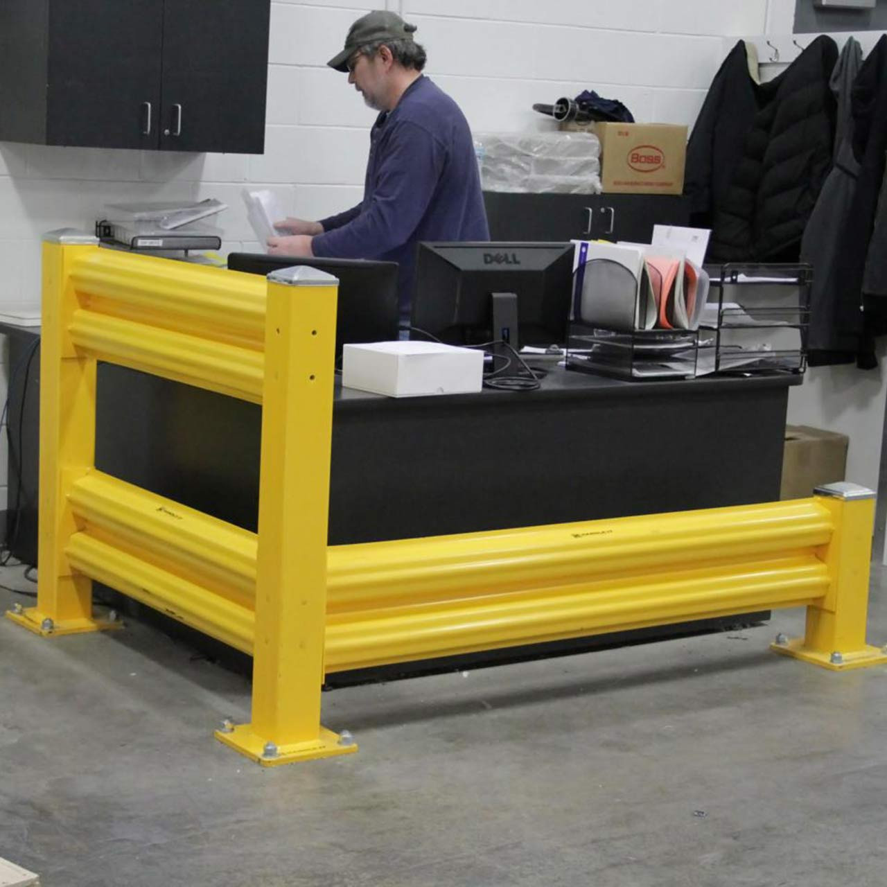 One  to three rails can be mounted on Handle It columns