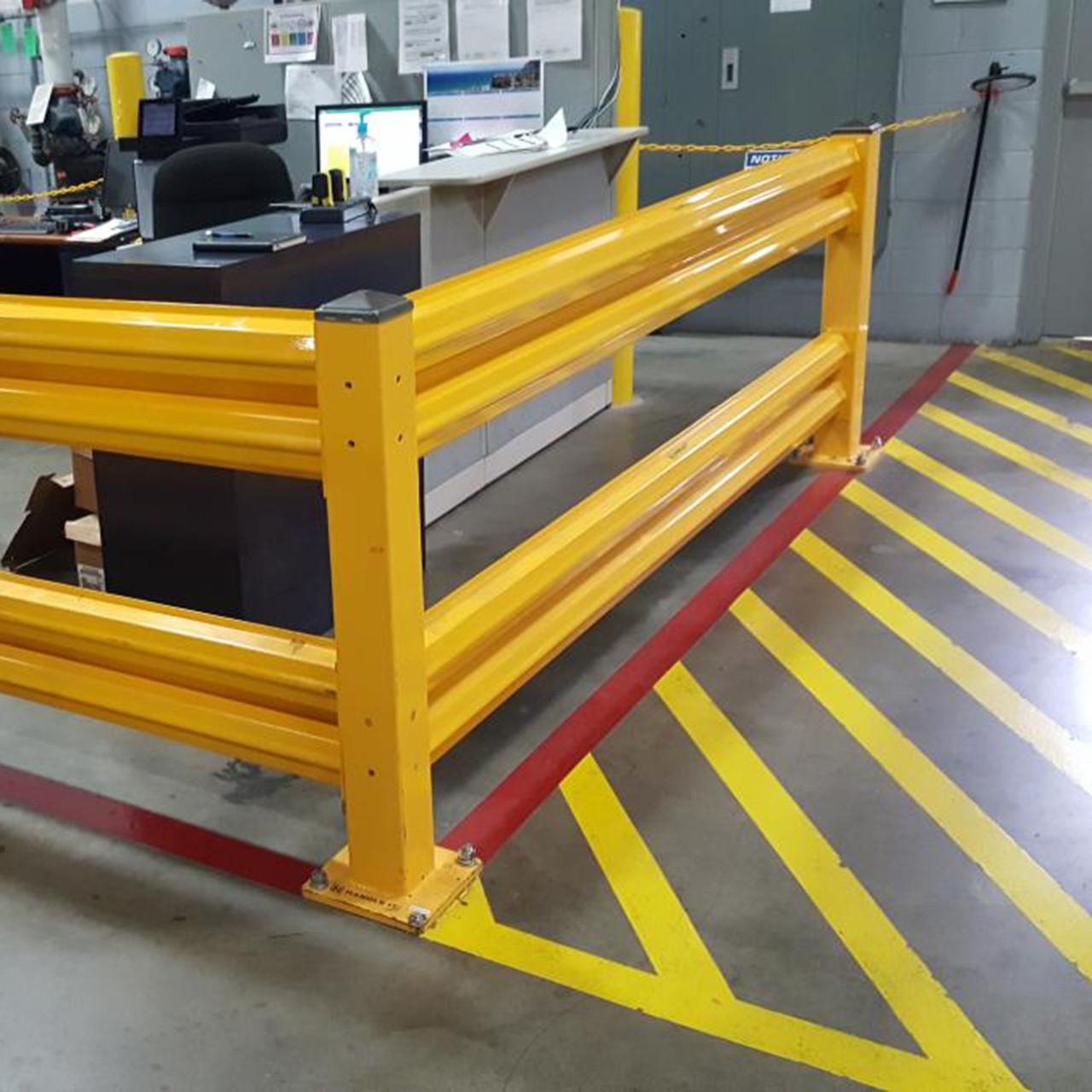 Guard rail assemblies can be used in any area that requires protection
