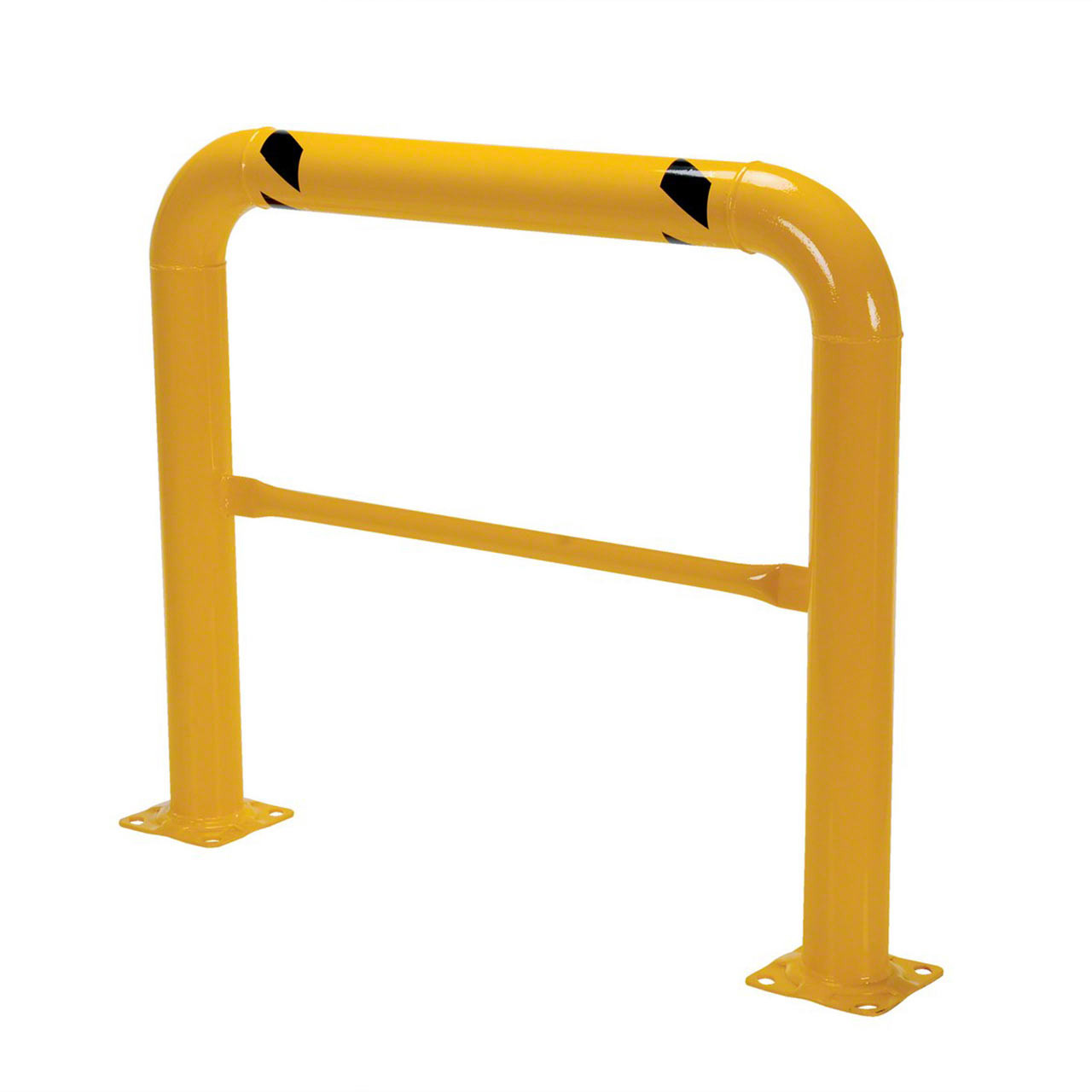 Keep machinery and rack safe with a steel barrier