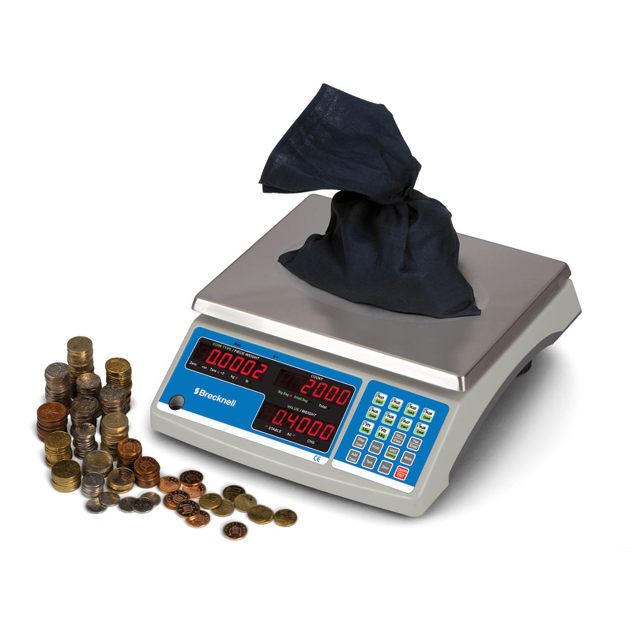 High Accuracy Counting Scale (60 lb model) can be used to count coins