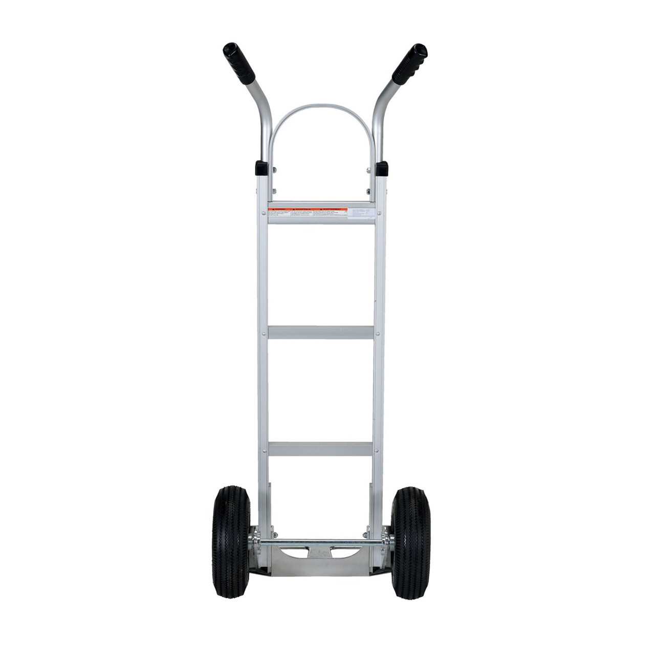 Dual Handle Hand Cart with Aluminum Noseplate Rear View