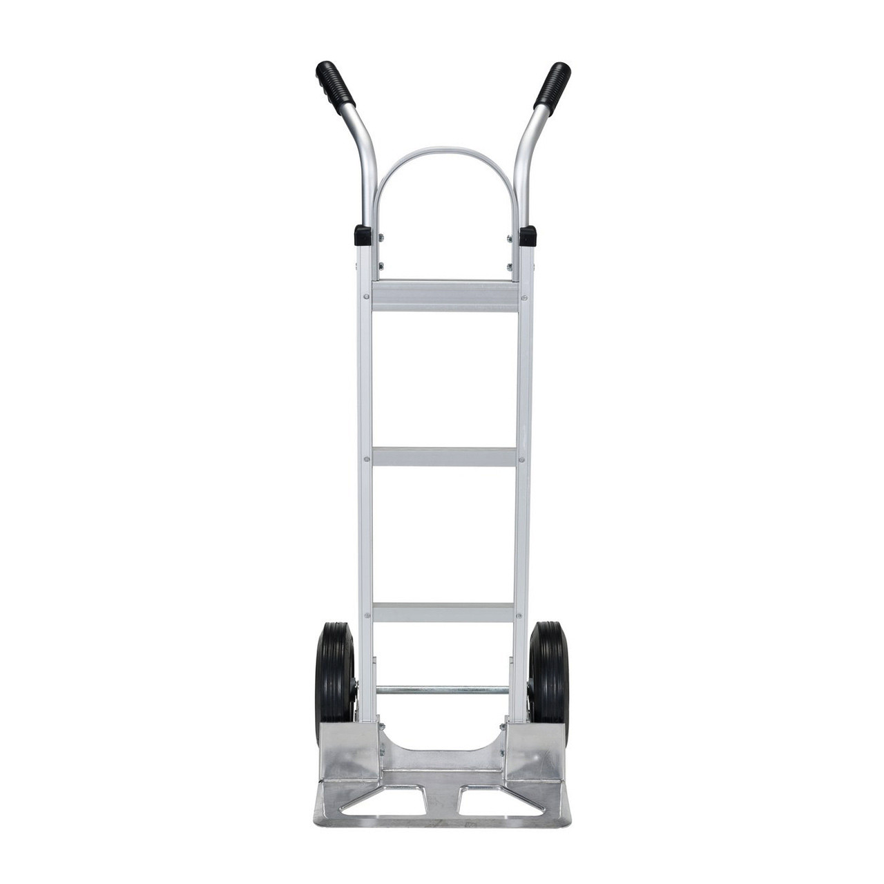 Dual Handle Hand Cart with Aluminum Noseplate Front View