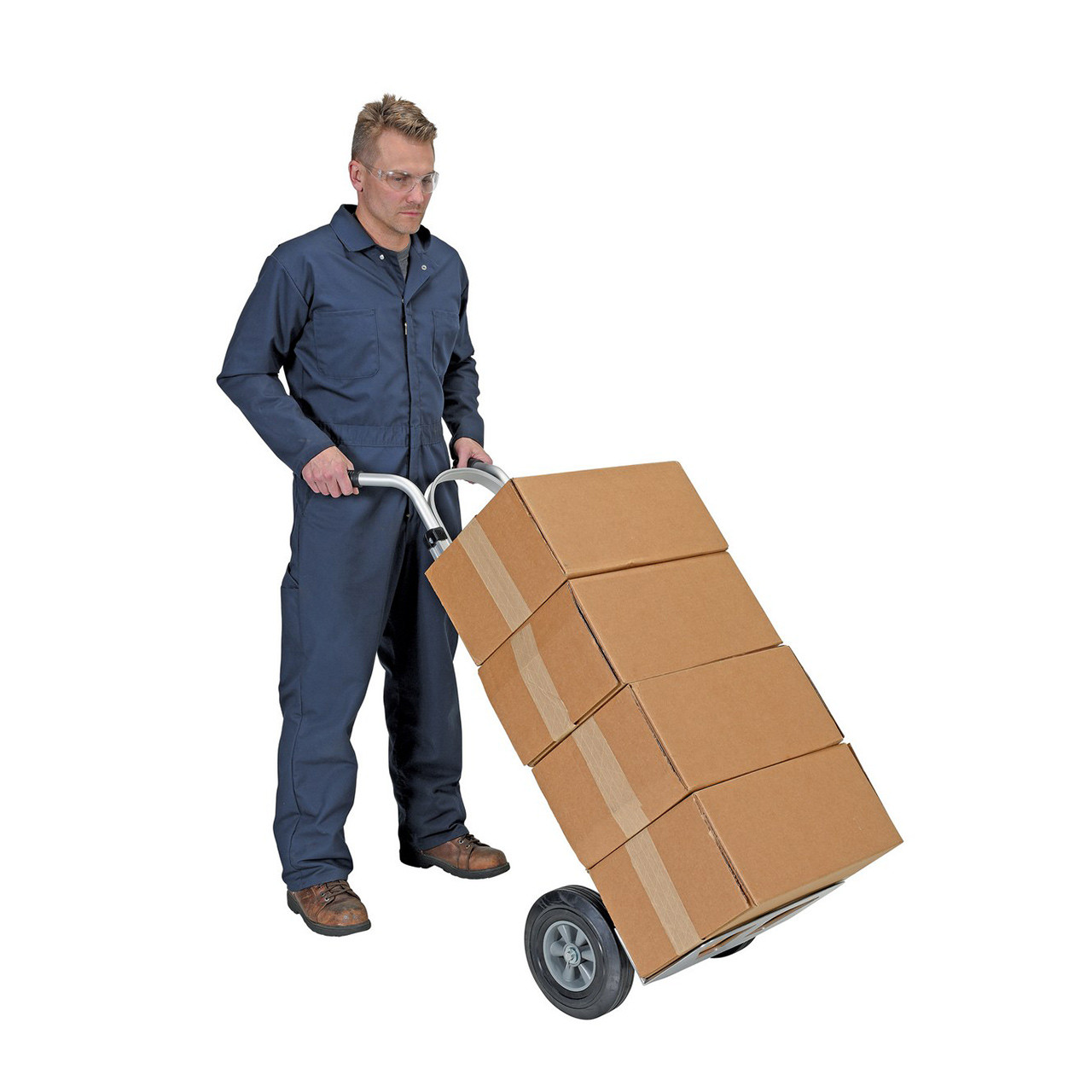 Dual Handle Hand Cart with Aluminum Noseplate Moving Boxes
