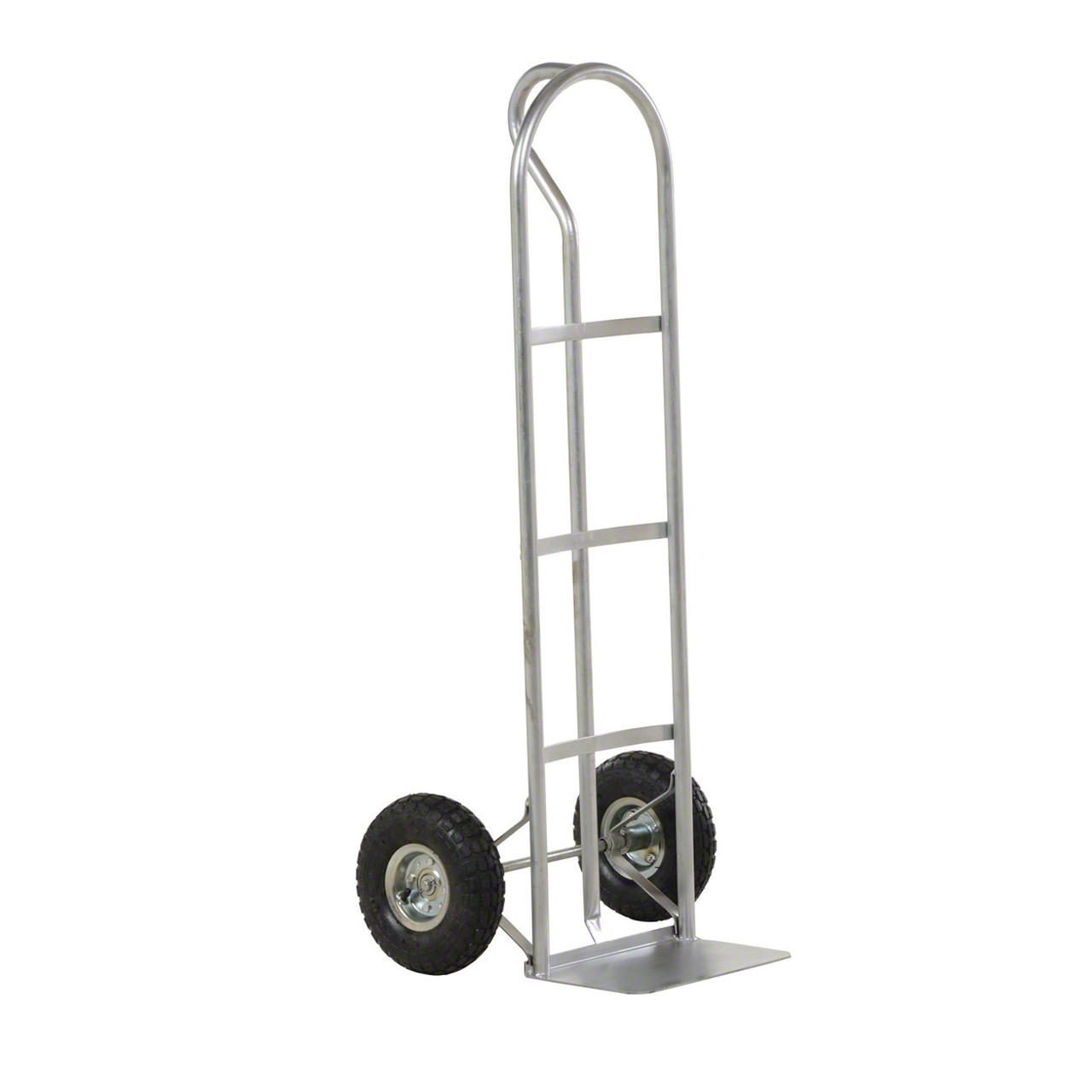 Steel P Handle Hand Truck with Hard Rubber Wheels