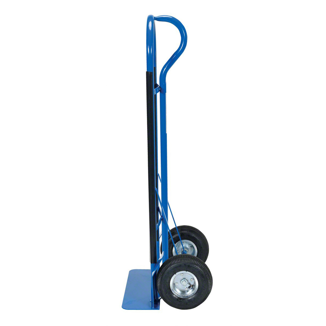Blue Steel P Handle Hand Truck Side View
