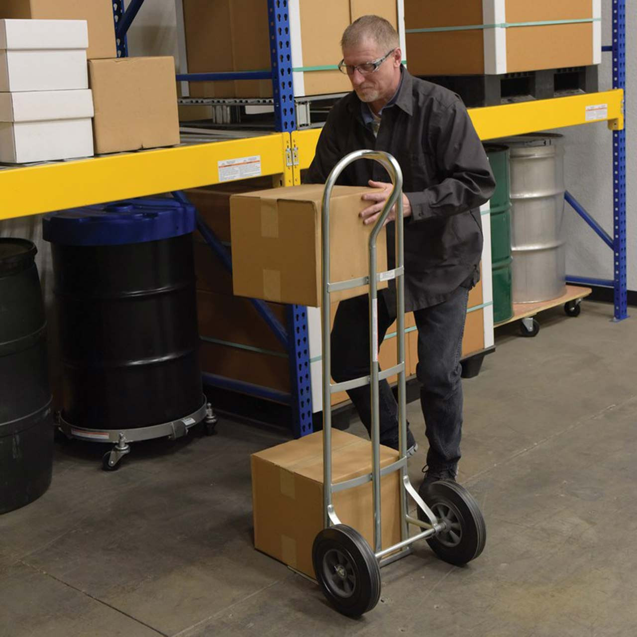 Steel P Handle Hand Truck with Boxes