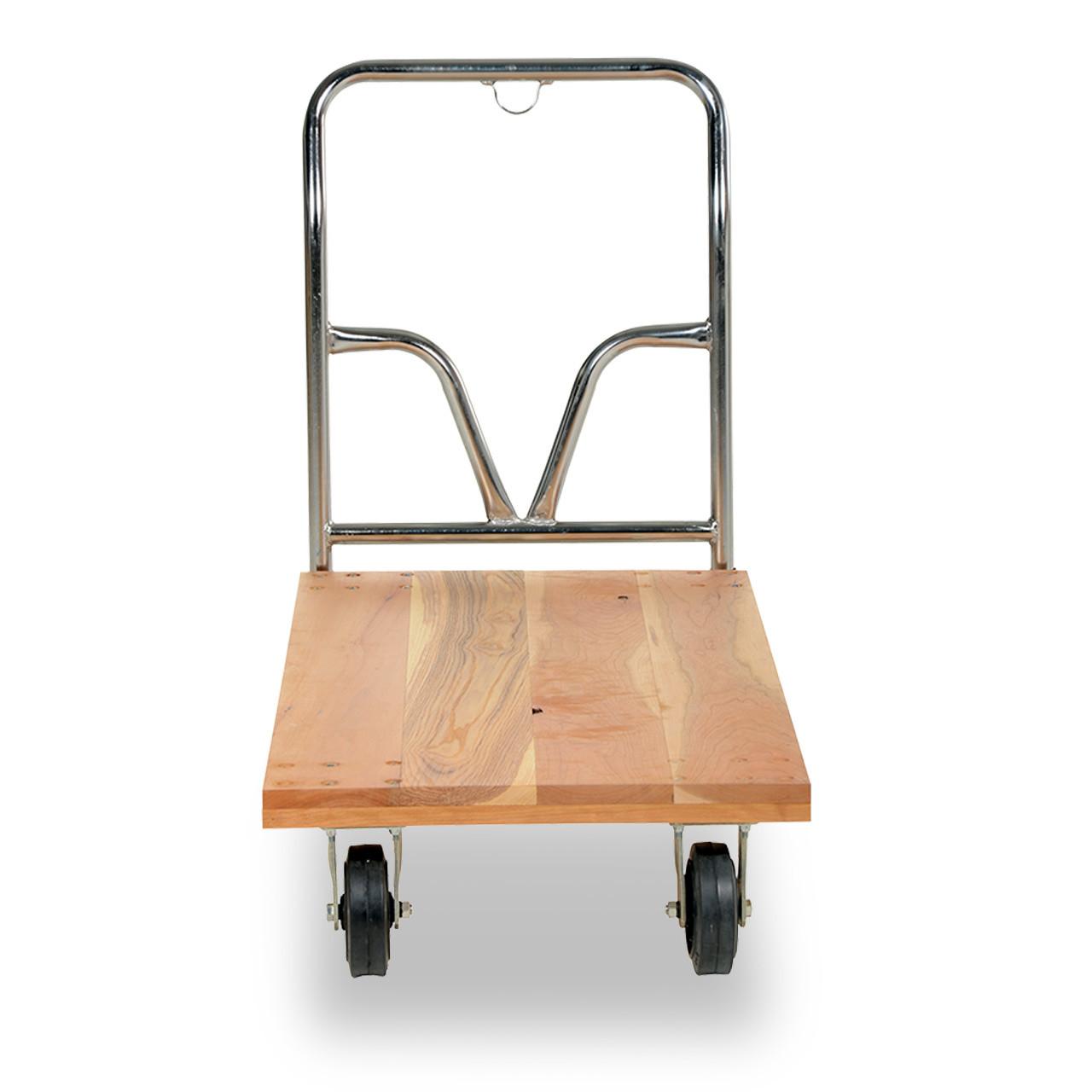 Wood Platform Cart Front View