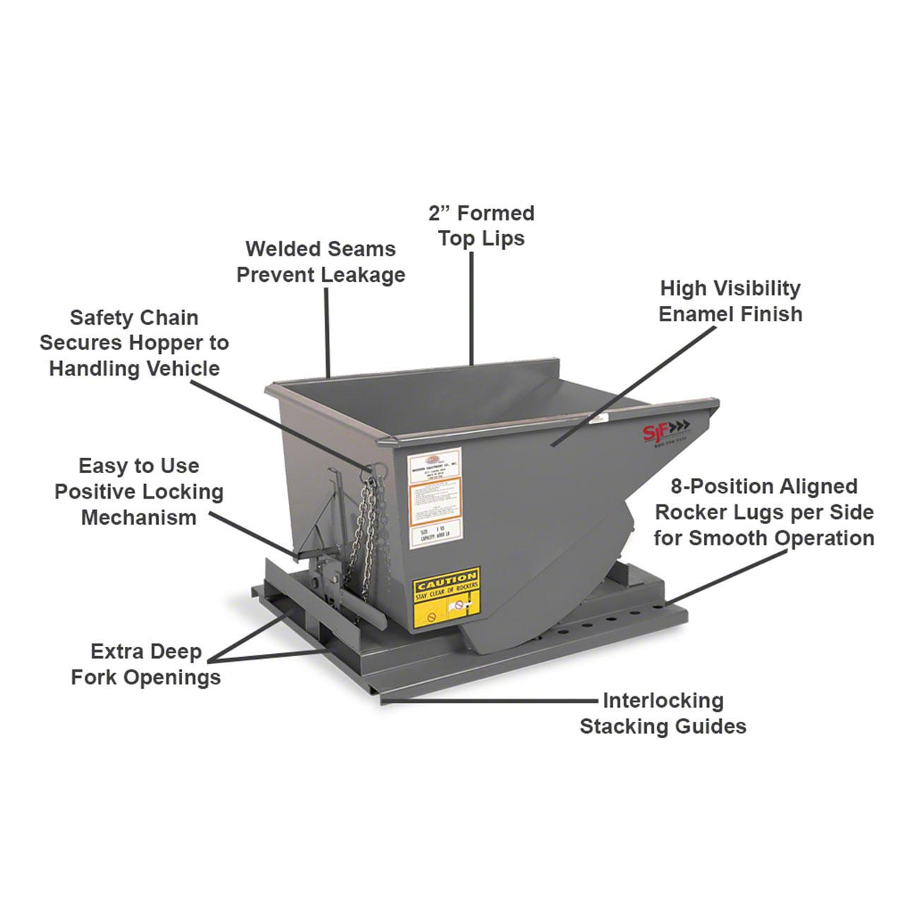 Parts of Self Dumping Hopper Heavy Duty Model