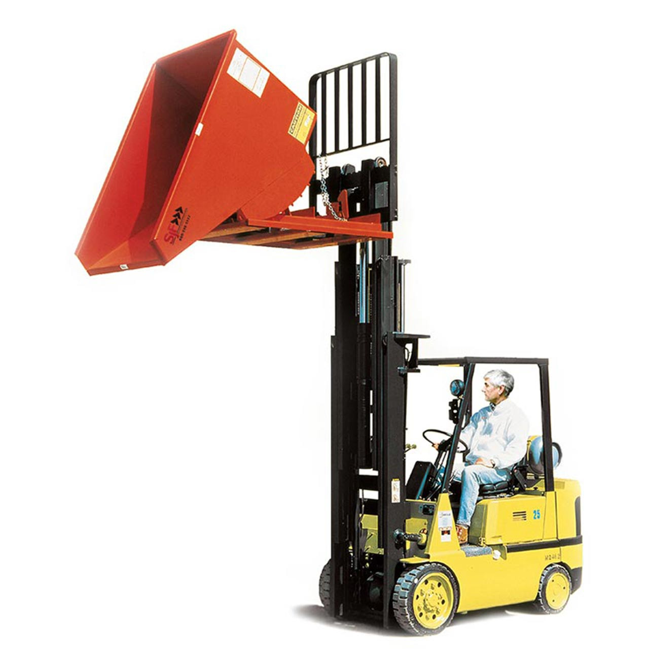 Extra Heavy Duty Self Dumping Hopper With Forklift