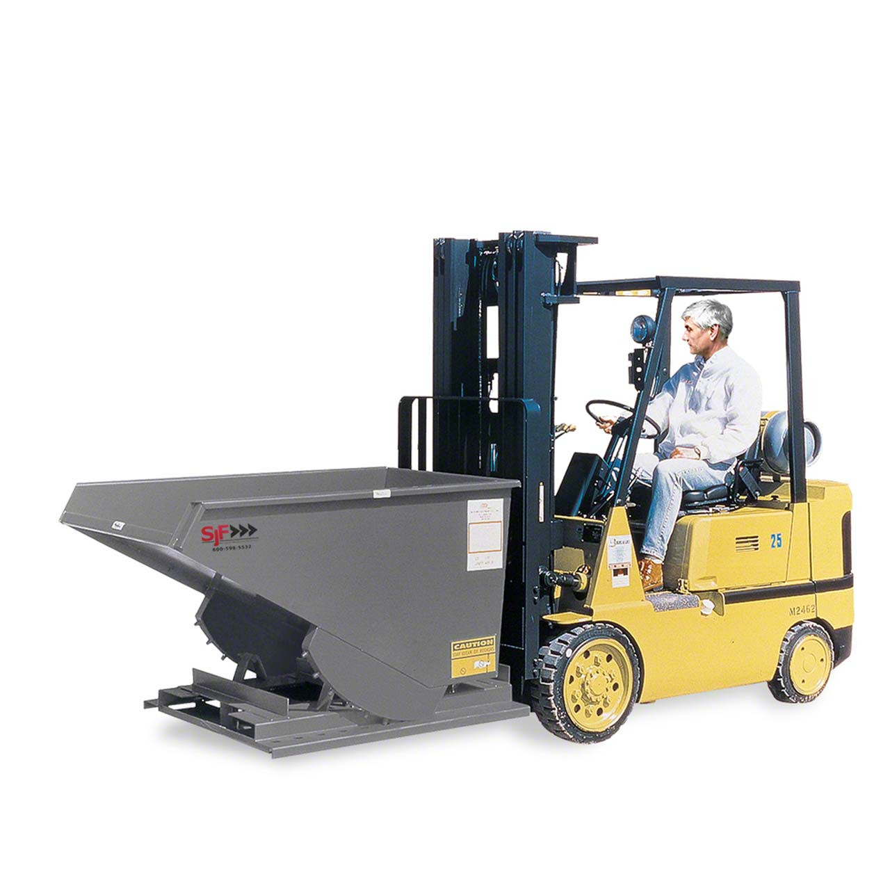 Dumping the Heavy Duty Self-Dumping Hopper from a Forklift
