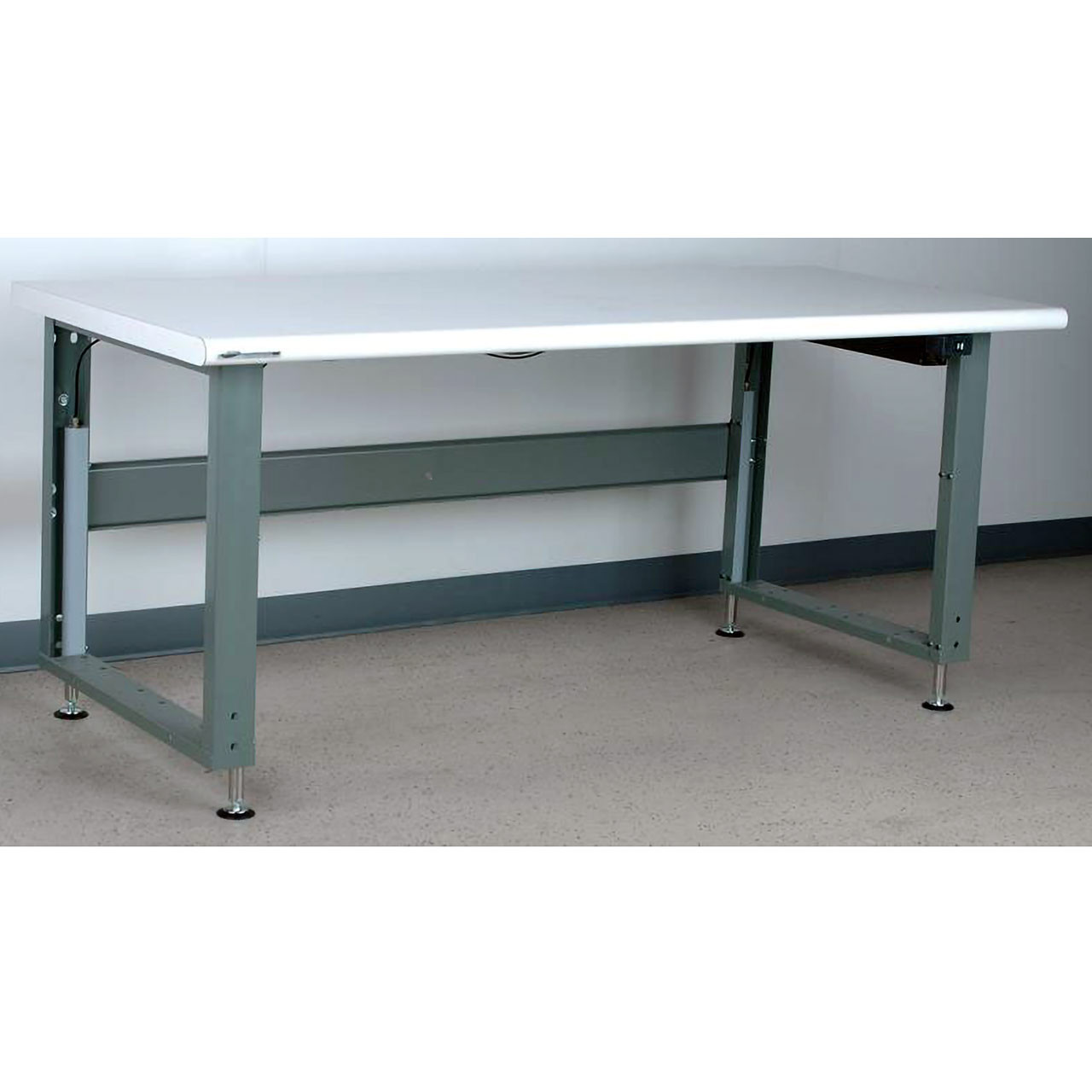 Electric Adjustable Height Workbench Bullnose Laminate Top