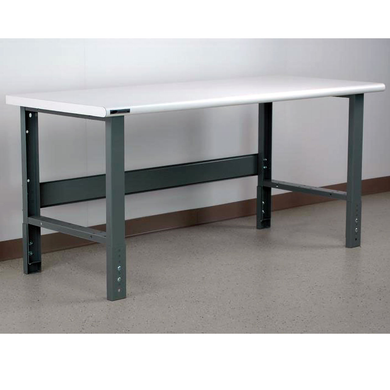 Manually Adjustable Height Workbench Bullnose Laminate Top