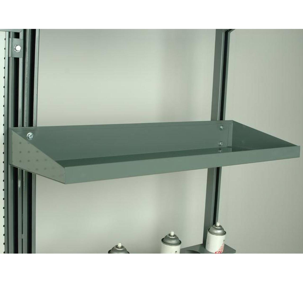 Workbench Half-Width Steel Shelve Flat With Lips