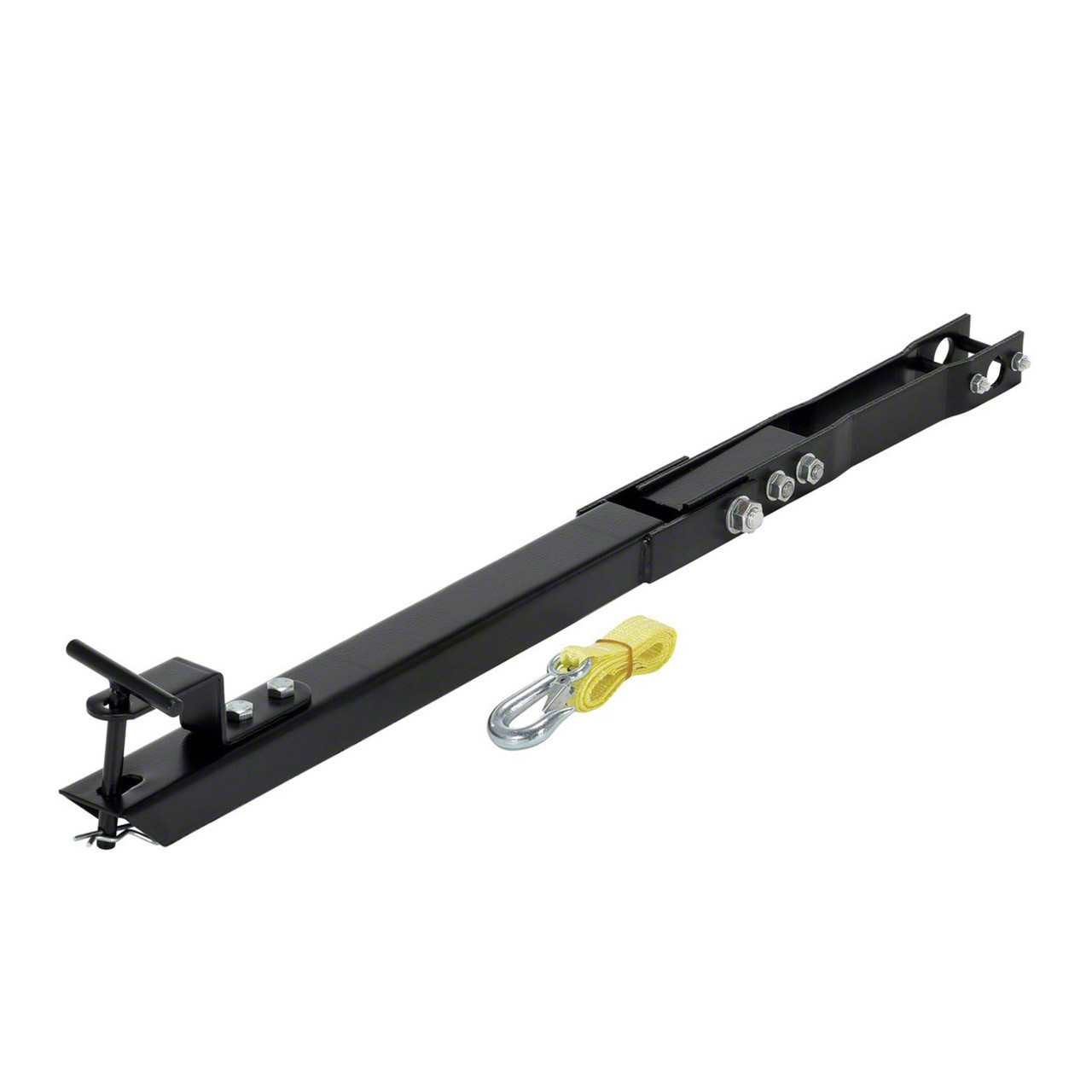 The pallet jack tow accessory is easy to install
