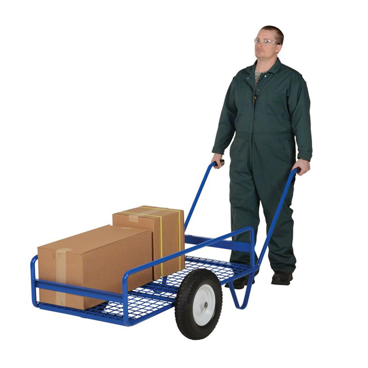 Haul loads over rough or uneven terrain with these tilting work trucks