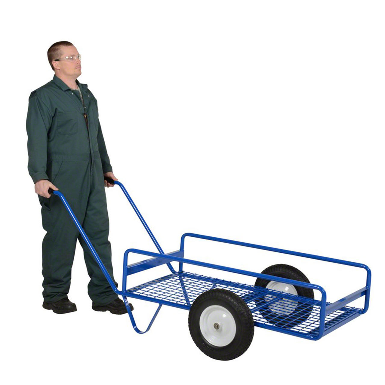 With a capacity of 500 lb., this tilting work cart will be able to move all your important loads
