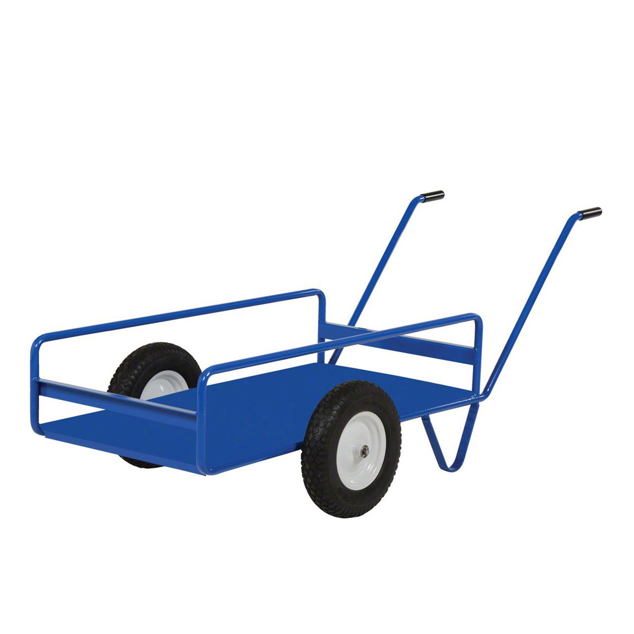 Vestil's tilting work truck with solid steel deck