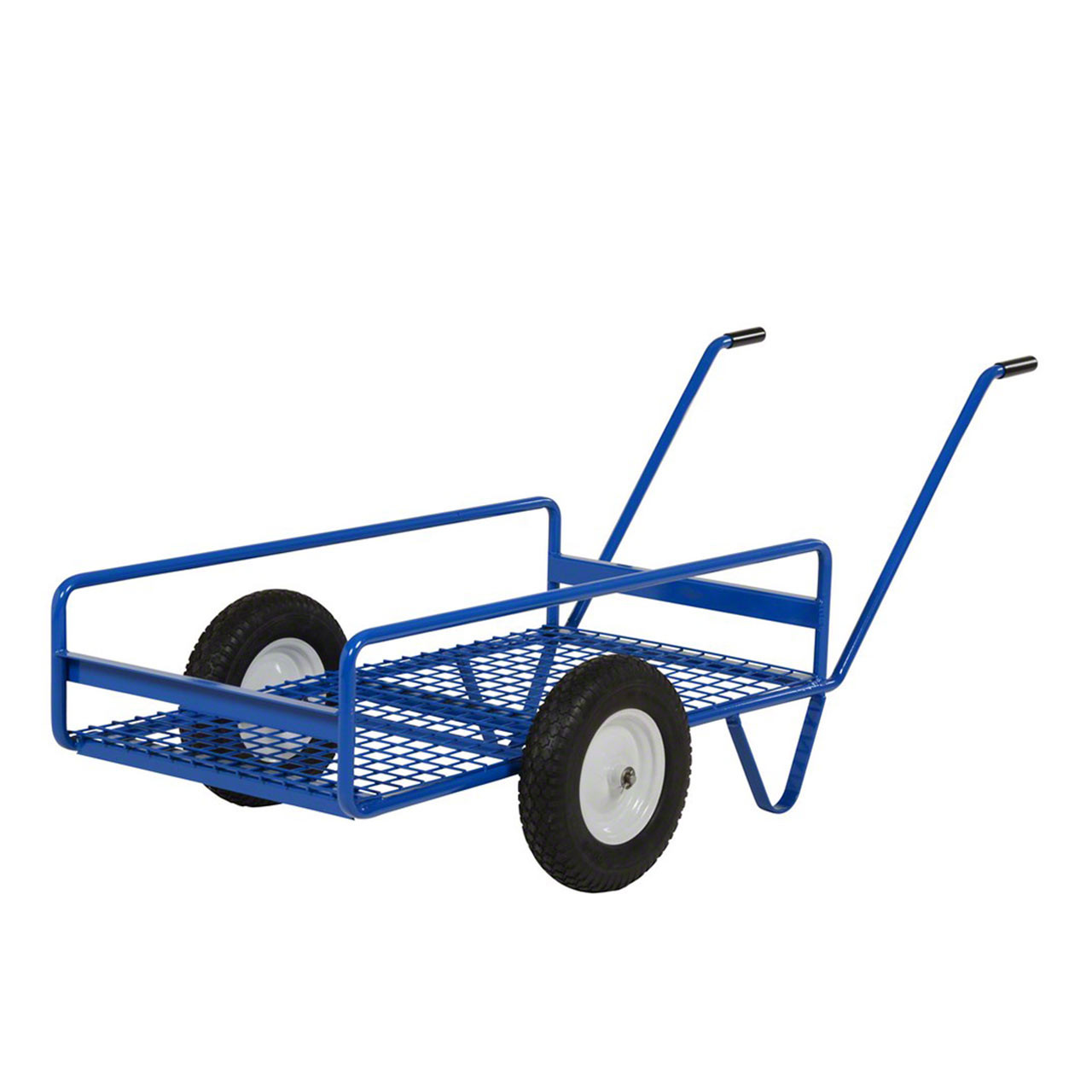 These work carts are great for maneuvering over rough terrain