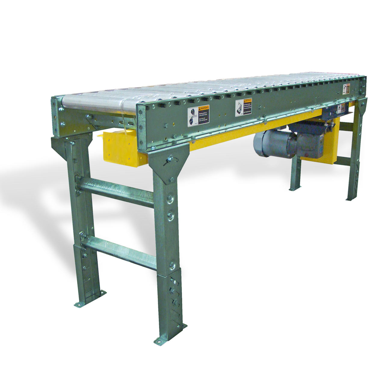 The lineshaft conveyor drive units are what makes it all work together