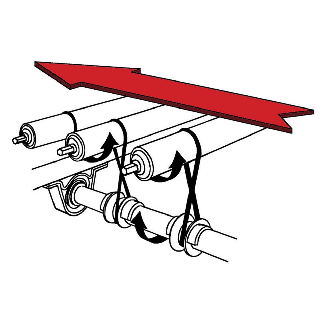 Lineshaft directional diagram