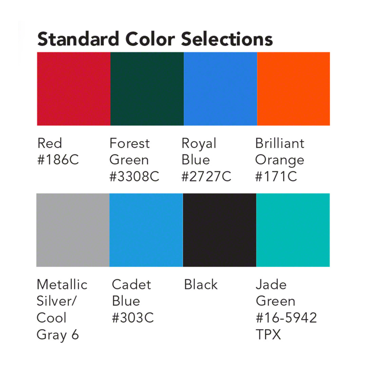 Color options for Stackbin Forklift Bulk Containers
