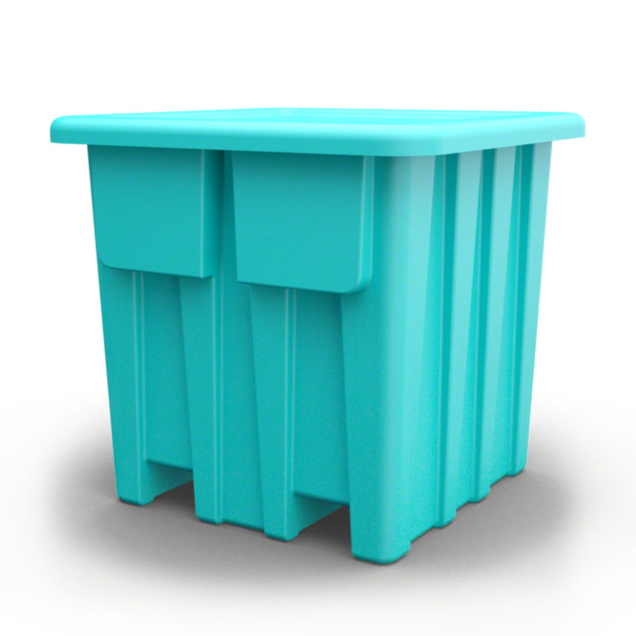 Side view Forklift container from Teal color