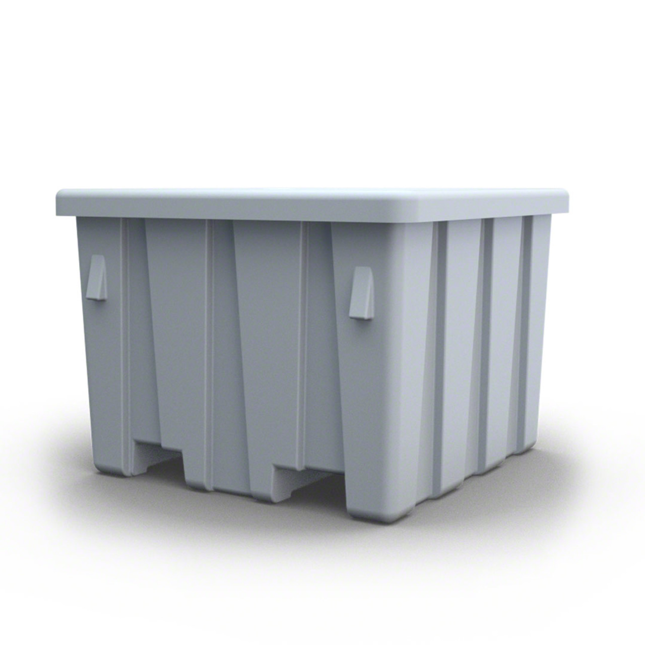 Stackbin forklift bulk container color gray smaller size