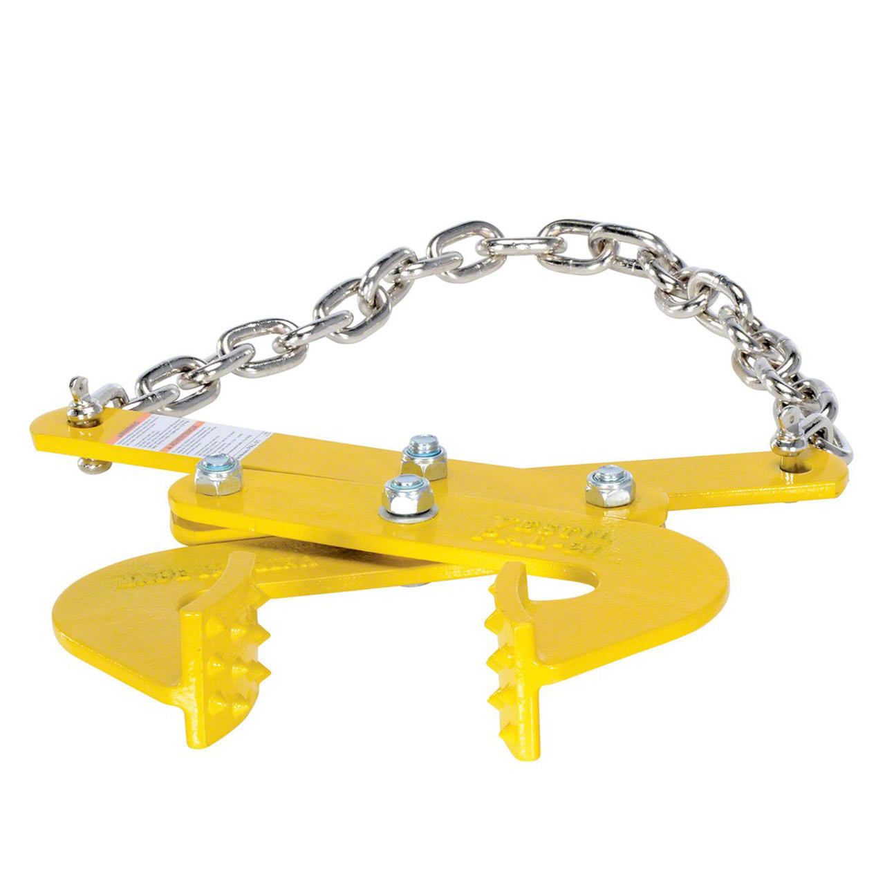 The one piece curved heads on the PAL-21 pallet pullers have integral spurs for gripping pallet stringers