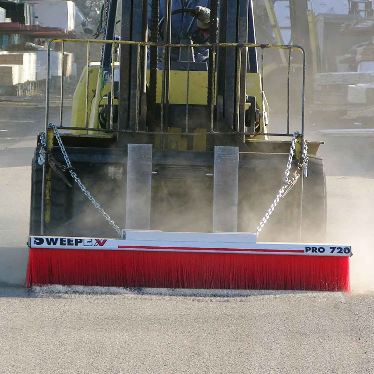 Forklift Mounted Broom - Pro Series In Action!