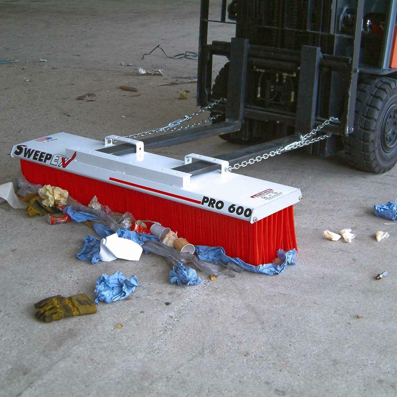 Forklift Mounted Broom - Pro Series Makes Sweeping A Breeze!
