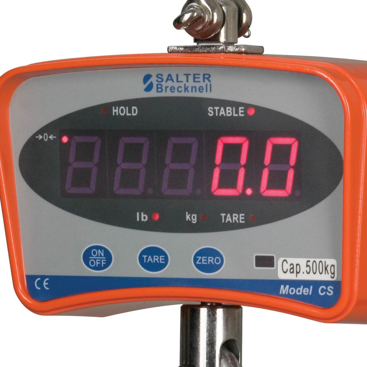 Close Up Of Digital Hanging Scale Display