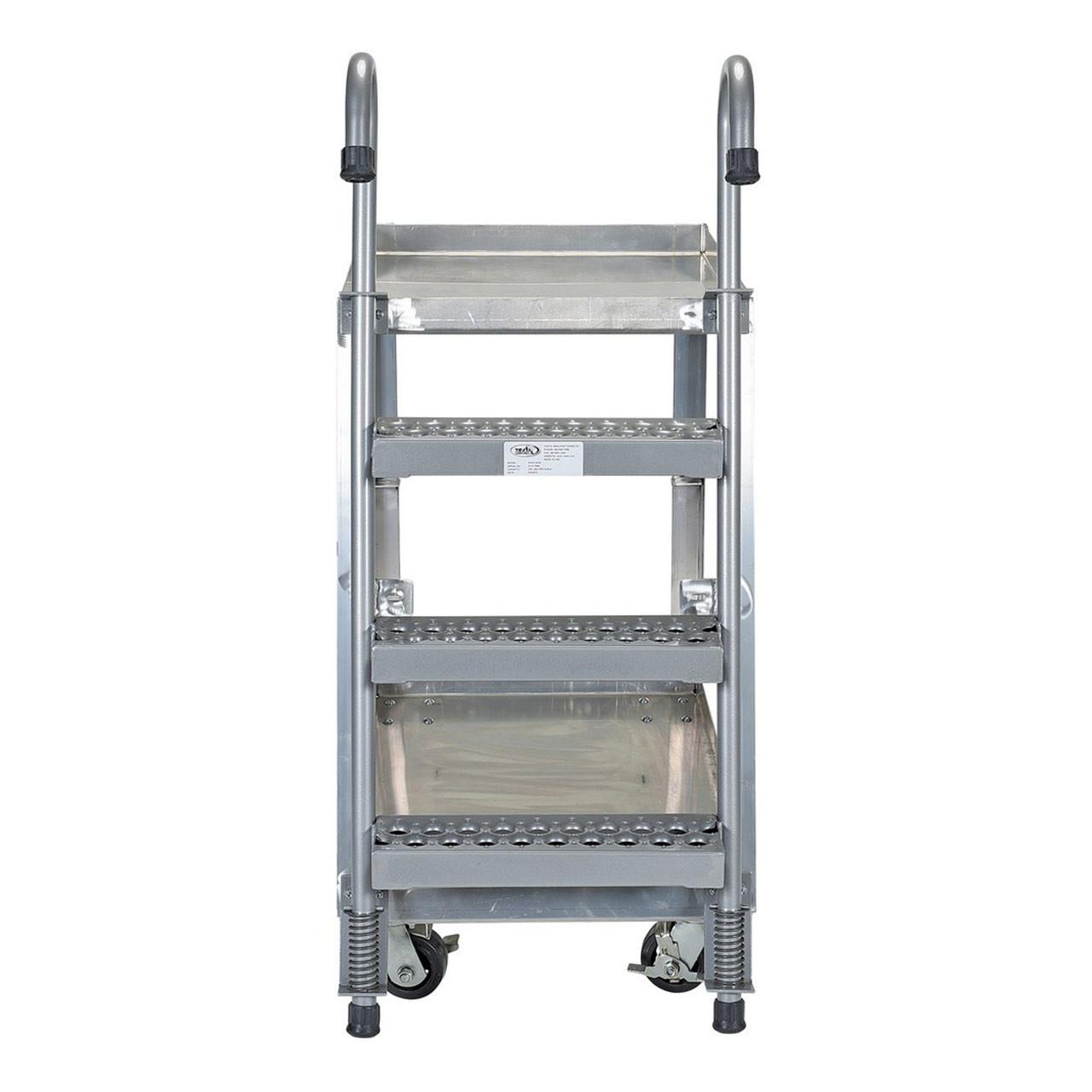 Aluminum Stockpicker Cart Rear View