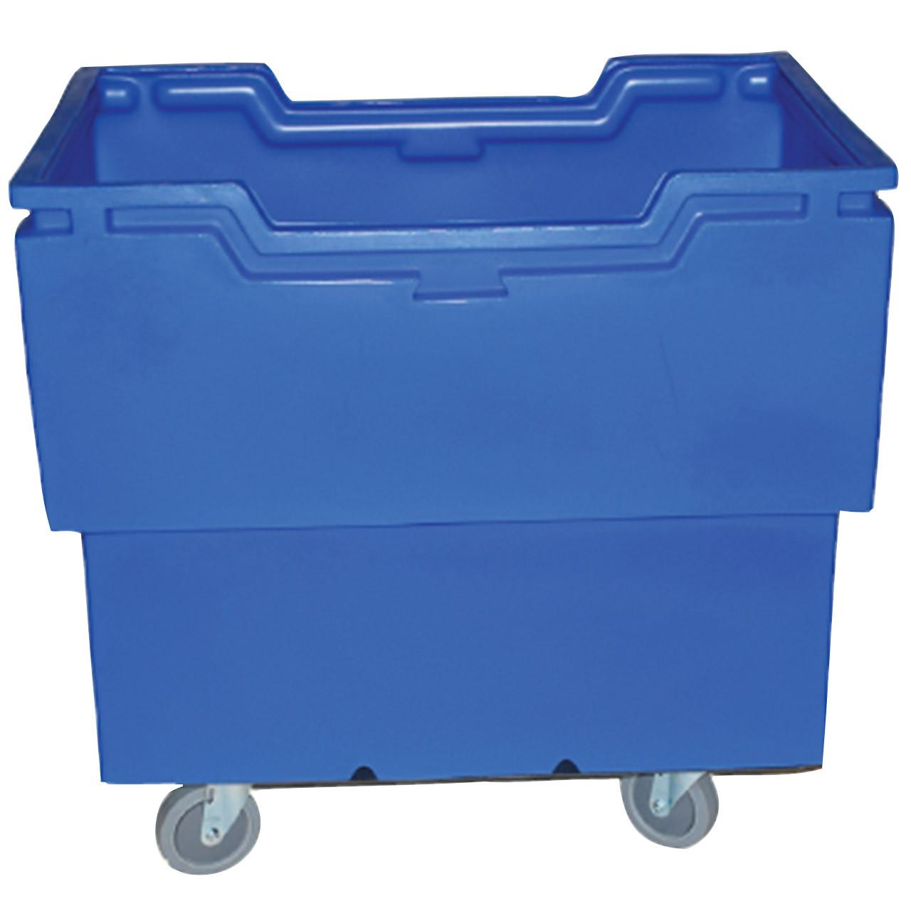 Heavy Duty Utility-Trux Bin Cart Blue Side View