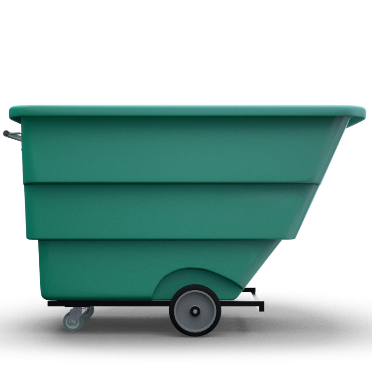 Tilt-Trux Bin Cart Green Side view