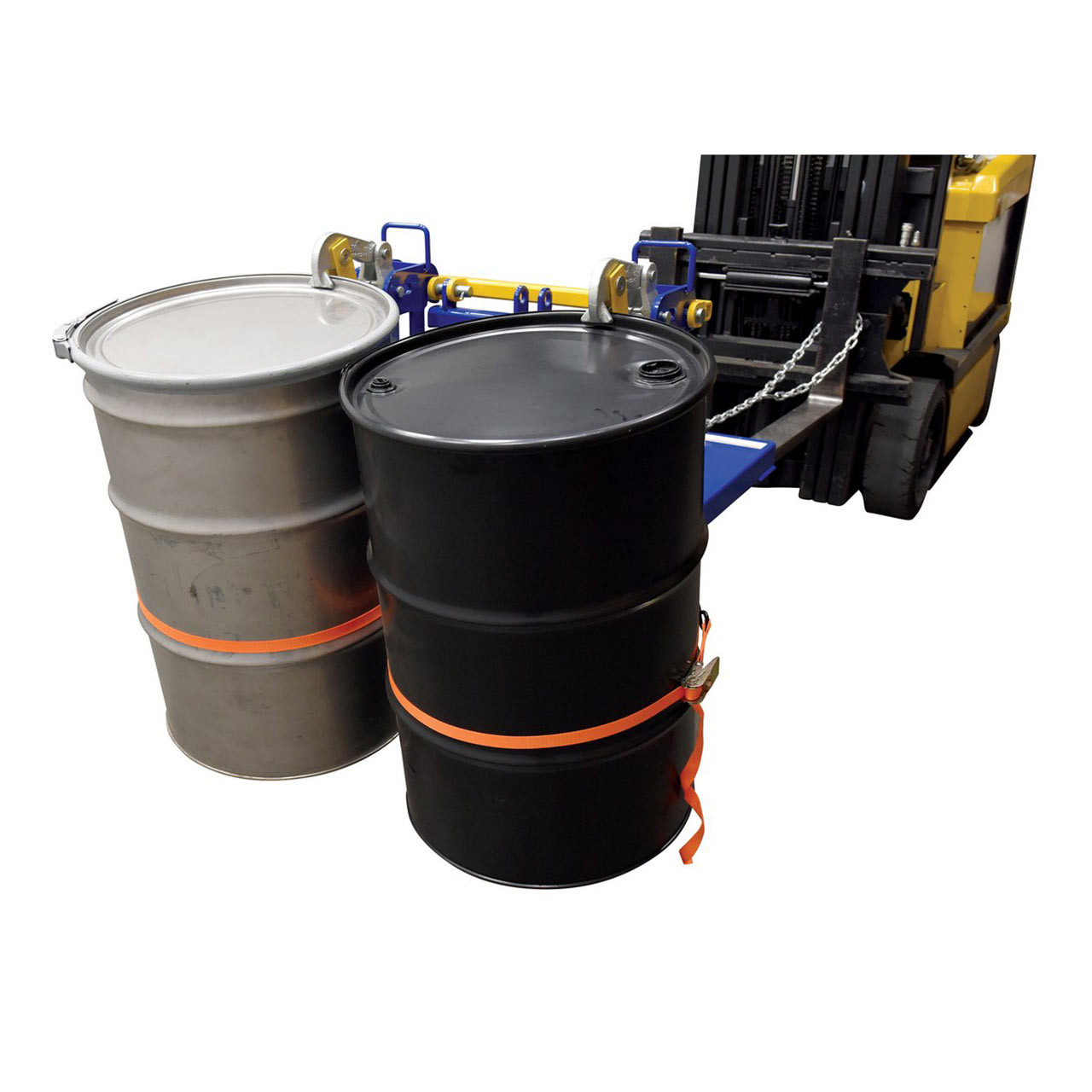 Automatic Drum Lifter With Drums