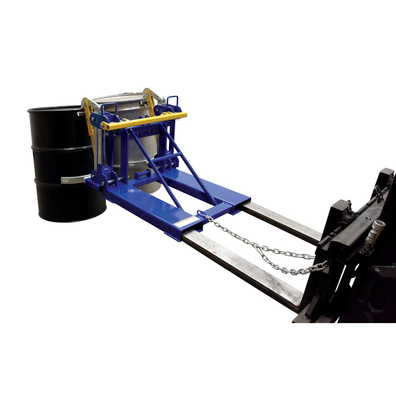 Automatic Drum Lifter Rear View With Drums