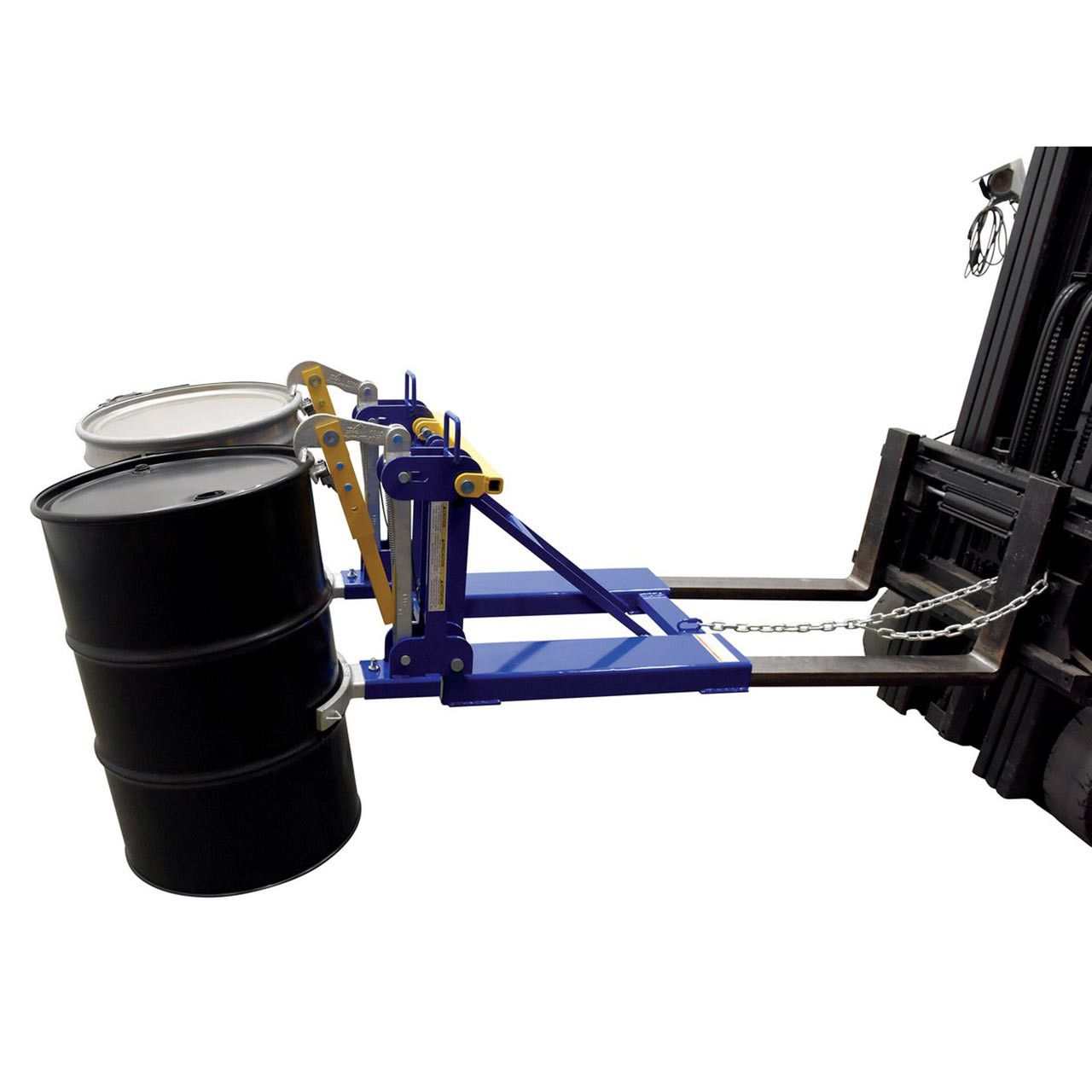 Automatic Drum Lifter Side View With Drums