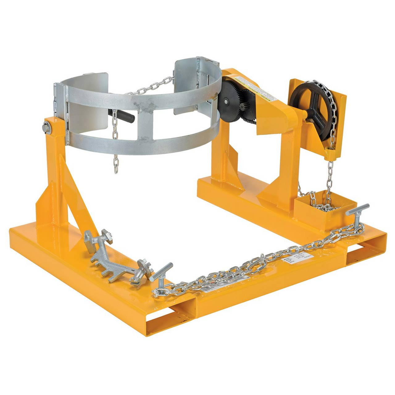 Fork Mounted Drum Carriers/Rotator Rear View