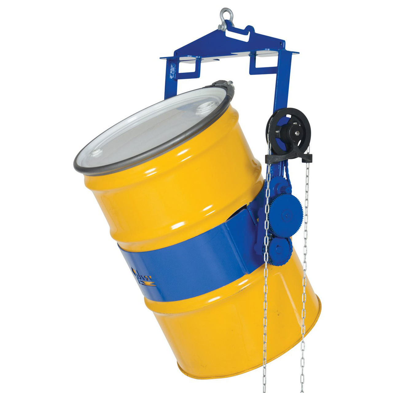 Hoist Mounted Drum Carriers/Rotator With 55 Gallon Drum