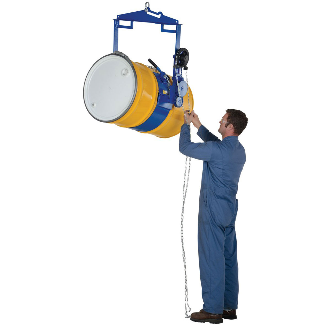 Hoist Mounted Drum Carriers/Rotator In Action